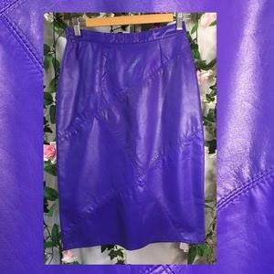 *Plus+Point* Leather panel/patchwork pencil skirt